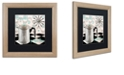 "Trademark Global Color Bakery 'Fifties Kitchen V' Matted Framed Art, 16"" x 16"""