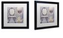 "Trademark Global Color Bakery 'Salon Ii' Matted Framed Art, 16"" x 16"""