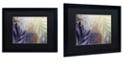 """Trademark Global Color Bakery 'Garden Waltz Ii' Matted Framed Art, 16"""" x 20"""""""