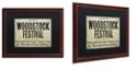 "Trademark Global Color Bakery 'Woodstock' Matted Framed Art, 16"" x 20"""