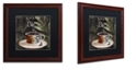"""Trademark Global Color Bakery 'Afrikan Coffee Iv' Matted Framed Art, 16"""" x 16"""""""