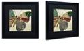 "Trademark Global Color Bakery 'Butterfly Brocade Ii' Matted Framed Art, 16"" x 16"""