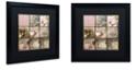 "Trademark Global Color Bakery 'Viva La Paris I' Matted Framed Art, 16"" x 16"""