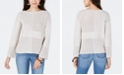 Style & Co Petite Patchwork-Knit Sweater, Created for Macy's