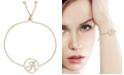 Macy's Diamond Accent Initial Bolo Bracelet in 18k Gold-Plate