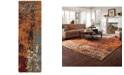 "Oriental Weavers Galaxy 21904 Multi/Orange 2'6"" x 8' Runner Area Rug"