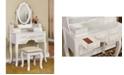 Furniture of America Tamarah Vanity Table with Stool