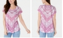 Style & Co Petite Printed Cap-Sleeve Top, Created for Macy's