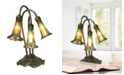 Dale Tiffany 3-Light Gold Lily Accent Lamp