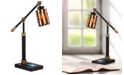 Dale Tiffany Diamond Hill Tiffany Desk Lamp With Wireless, Usb Charger