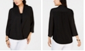 Charter Club Petite Surplice Top, Created for Macy's