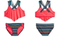 Summer Crush Big Girls 2-Pc. Printed Flounce Bikini