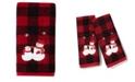 Saturday Knight Snowmen Plaid 2-Pc. Hand Towel Set
