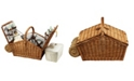 Picnic At Ascot Huntsman English-Style Willow Picnic Basket for 4 with Blanket