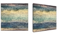 "Ready2HangArt 'Ocean Tide' Abstract Canvas Wall Art - 20"" x 20"""