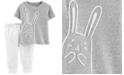 Carter's Baby Girls or Baby Boys 2-Pc. Bunny Rabbit Cotton Top & Pants Set