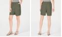 Karen Scott Cotton Drawstring Shorts, Created for Macy's