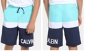 Calvin Klein Big Boys Colorblocked Volley Swimsuit