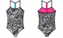 Nike Big Girls 1-Pc. Doodle T-Back Swimsuit
