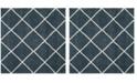 Safavieh Hudson Slate Blue and Ivory 7' x 7' Square Area Rug