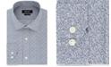 DKNY Men's Slim-Fit Stretch Navy Print Dress Shirt