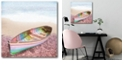 """Courtside Market Pastel Row Boat Lara Skinner Gallery-Wrapped Canvas Wall Art - 16"""" x 16"""""""
