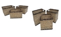 Baum Set of 3 Tall Rectangular Bangkuang and Bacbac Storage Baskets