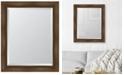 """Melissa Van Hise Warm Walnut Framed Mirror - 28"""" x 34"""" x 2"""""""