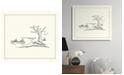 "Melissa Van Hise Canoe Sketch Framed Giclee Wall Art - 29"" x 33"" x 2"""