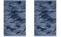 """Safavieh Retro Light Blue and Blue 2'6"""" x 4' Area Rug"""