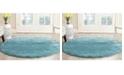 Safavieh Shag Aqua Blue 3' x 3' Round Area Rug