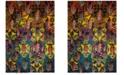 "Safavieh Fiesta Turquoise and Multi 6'7"" x 9'2"" Area Rug"