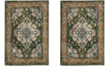 Safavieh Monaco Forest Green and Light Blue 10' x 14' Area Rug