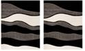 "Safavieh Shag Gray and Black 8'6"" x 12' Area Rug"