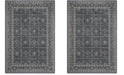 Safavieh Brentwood Navy and Light Gray 3' x 5' Sisal Weave Area Rug