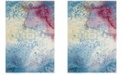 Safavieh Watercolor Light Blue and Light Yellow 4' x 6' Area Rug