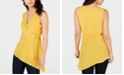 Thalia Sodi Faux-Wrap Asymmetrical Hem Top, Created for Macy's