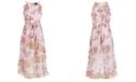 Pink & Violet Big Girls Ruffled Floral-Print Maxi Dress