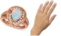 Le Vian Neopolitan Opal (1 ct. t.w.) & Diamond (1/2 ct. t.w.) Pear Statement Ring in 14k Rose Gold