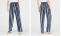 BCX Juniors' Striped Ruffle-Waist Soft Pants