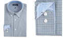 Nautica Men's Classic/Regular Fit Comfort Stretch Wrinkle Free Tattersall Dress Shirt