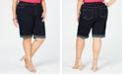 INC International Concepts I.N.C. Plus Size Casual Bermuda Jean Shorts, Created for Macy's