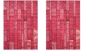 "Safavieh Monaco Pink and Multi 4' x 5'7"" Area Rug"