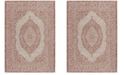 "Safavieh Courtyard Light Beige and Terracotta 6'7"" x 9'6"" Sisal Weave Area Rug"