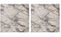"""Safavieh Lurex Ivory and Gray 6'7"""" x 6'7"""" Square Area Rug"""