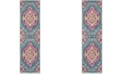 "Safavieh Madison Blue and Fuchsia 2'3"" x 6' Runner Area Rug"
