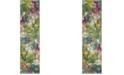 "Safavieh Watercolor Green and Fuchsia 2'2"" x 6' Runner Area Rug"
