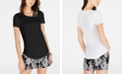 INC International Concepts I.N.C. Short-Sleeve Asymmetrical Strappy Top, Created for Macy's