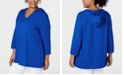 Karen Scott Plus Size Hooded Top, Created for Macy's