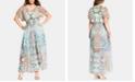 City Chic Trendy Plus Size Casablanca Printed Kimono Maxi Dress